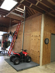 2x4 ft. / Custom Size Attic-Lift Premium 1400 (400 lb) Garage Attic Lift - Silver Finish W/ Remote (Regular: $2,345)
