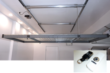 Two 4x8 ft. Auxx Lift 1600 (600 lb) Garage Storage Lifts w/ Remote + FREE SHIPPING & Bike Hooks (Silver) $1889-$2678