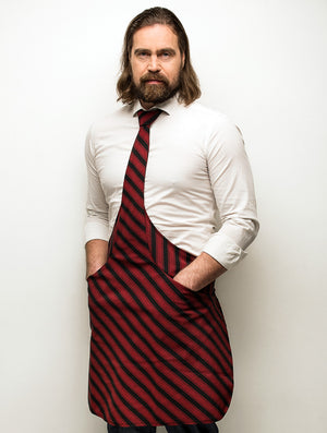 tie apron black-bordeaux