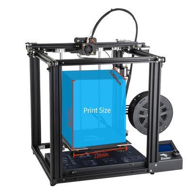 Ender-5 printing size build volume