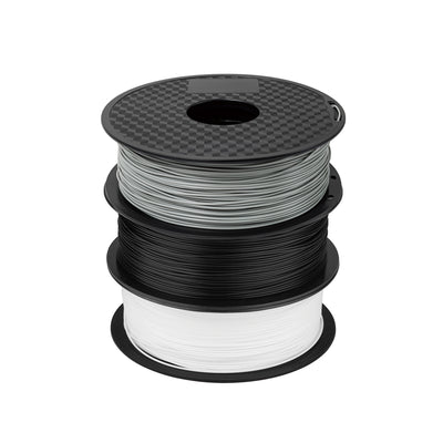 filament in grey black and white