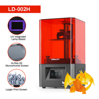 Creality LD-002H resin 3d printer with uv integrated lamp beads, 2k monochrome screen and larger print size