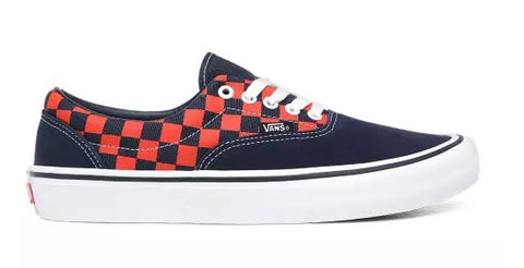 Vans - Era Pro (Checkerboard) - Navy/Orange