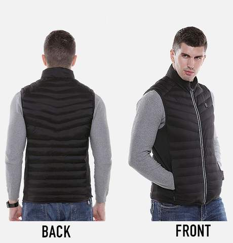 Heated Vest Front and Back