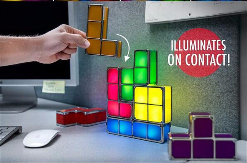 DIY Tetris Stackable LED Desk Lamp OWLAKE Because you are