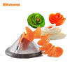 Creative vegetable spiral slicer tool