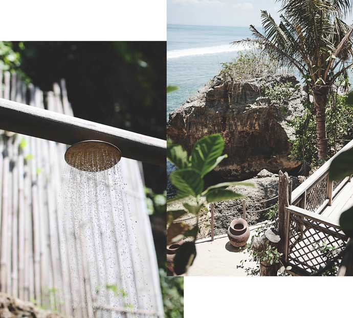 Indaia swim behind the scenes photoshoot, Impossible house, rustic, Bali