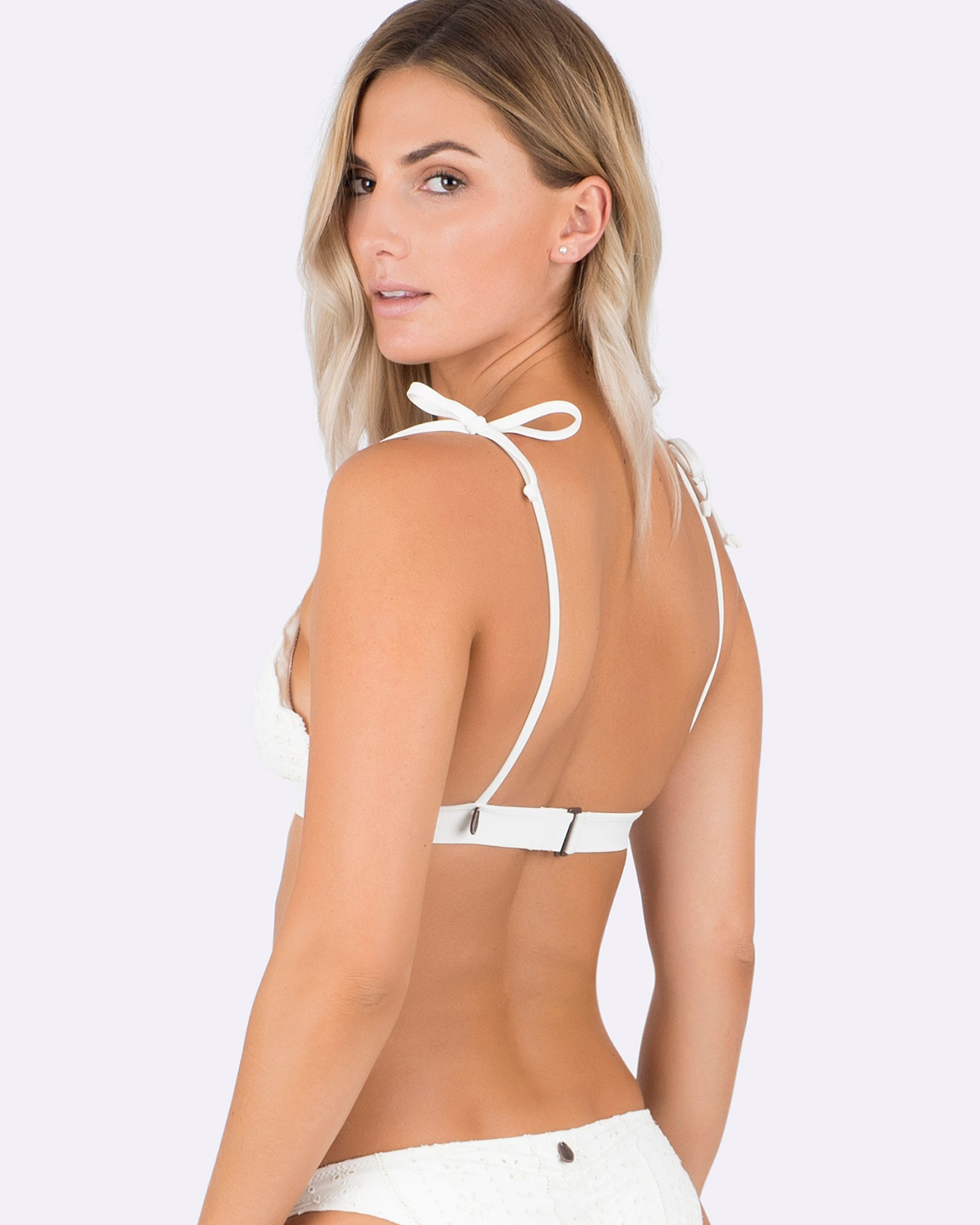 Indaia Swim Frienda top with shoulder ties