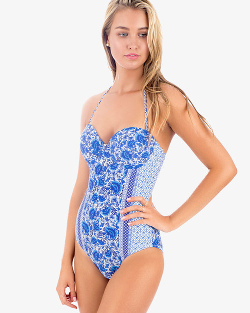 Aindalusia Stella engineered print one piece swimsuit