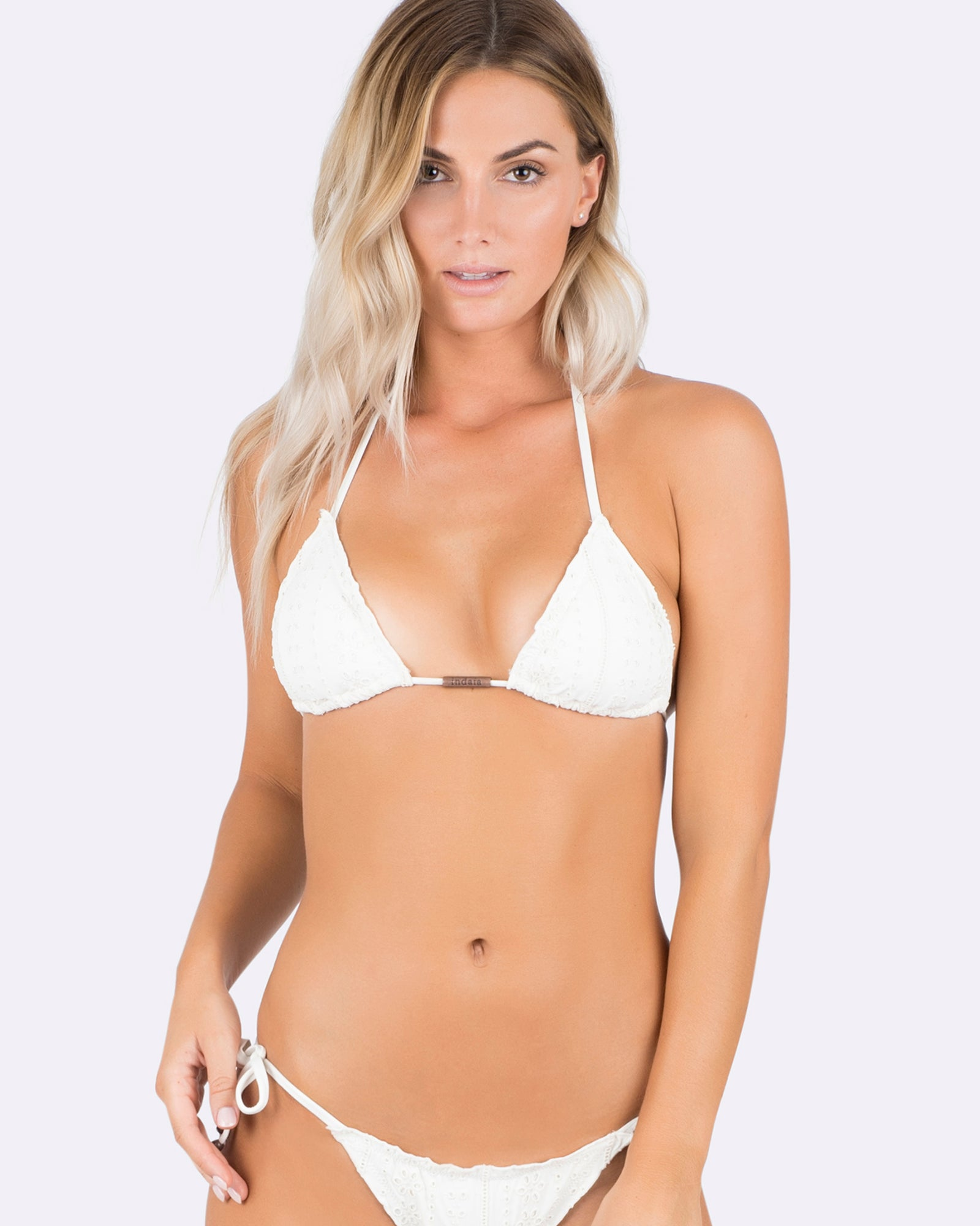 Indaia Swim Sol Triange Top off white