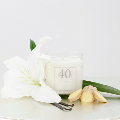 Ginger & White Lily Candle