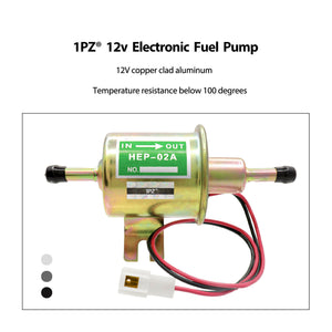 2V Universal 2.5-4 PSI Gas Diesel Inline Low Pressure Electric Fuel Pump HEP02A