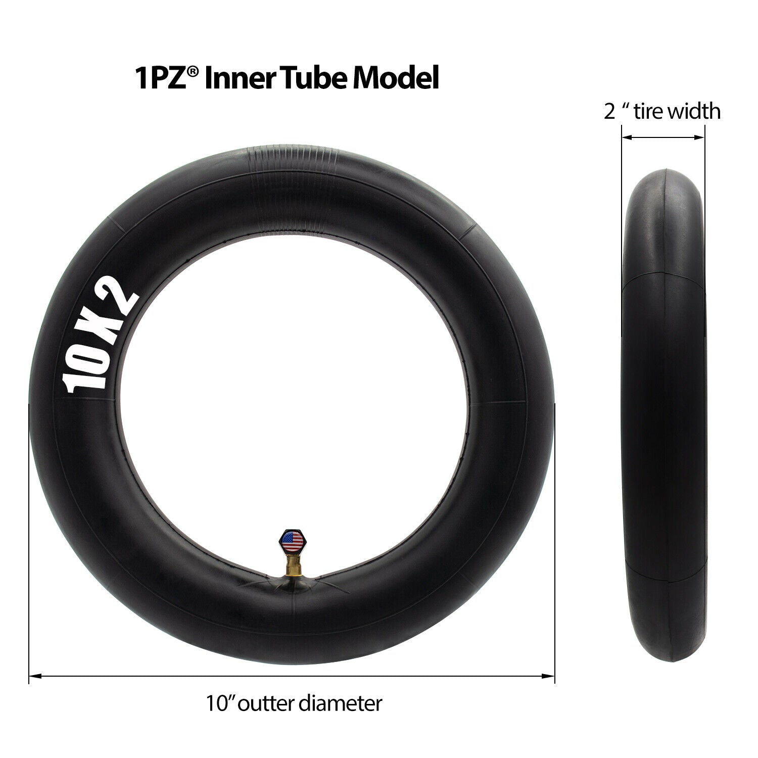 10x2.125 Tire 10x2 Inner Tube Baby Stroller Jogger 3-Wheeler Kid Bicycle Scooter