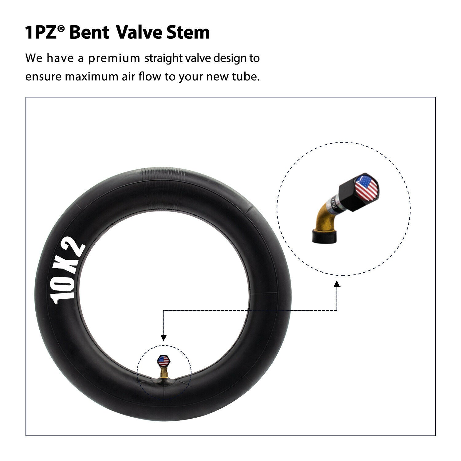 "10x2 Inner Tube 10x125 Tire Rim-6"" Kids Electric Bicycle Scooter Swagcycle Pro"