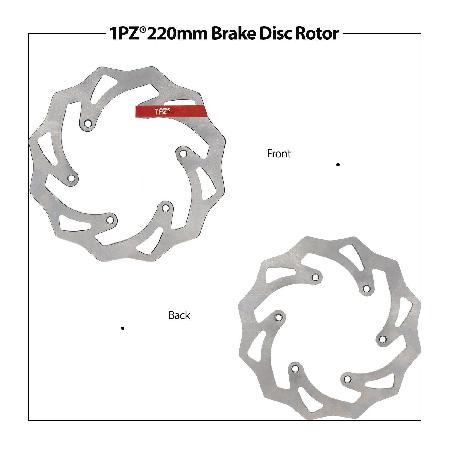 Rear Brake Disc Rotor 220mm for Husaberg Husqvarna KTM 125 200 250 300 350 450