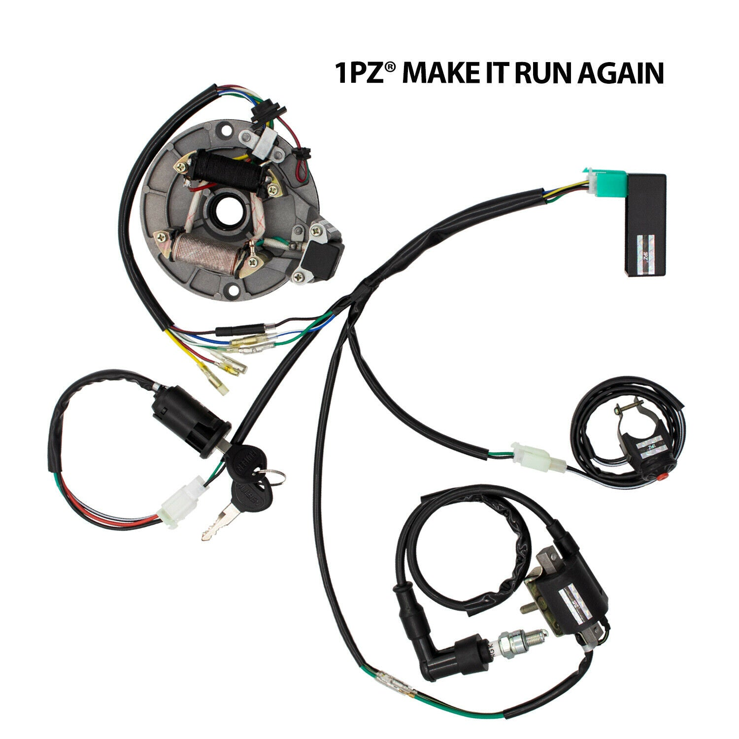 Kill On Off Switch Ignition Coil CDI Magneto Stator Wiring Harness Dirt Pit Bike