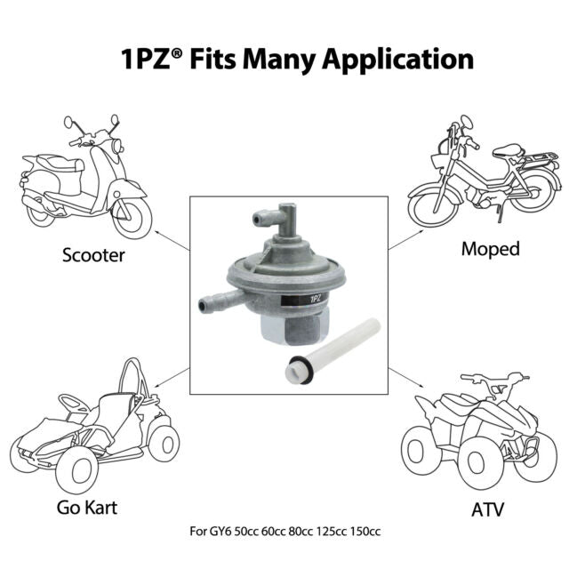 Fuel Switch Vacuum Petcock For GY6 50cc - 150cc engine ATV Go Kart Moped Scooter