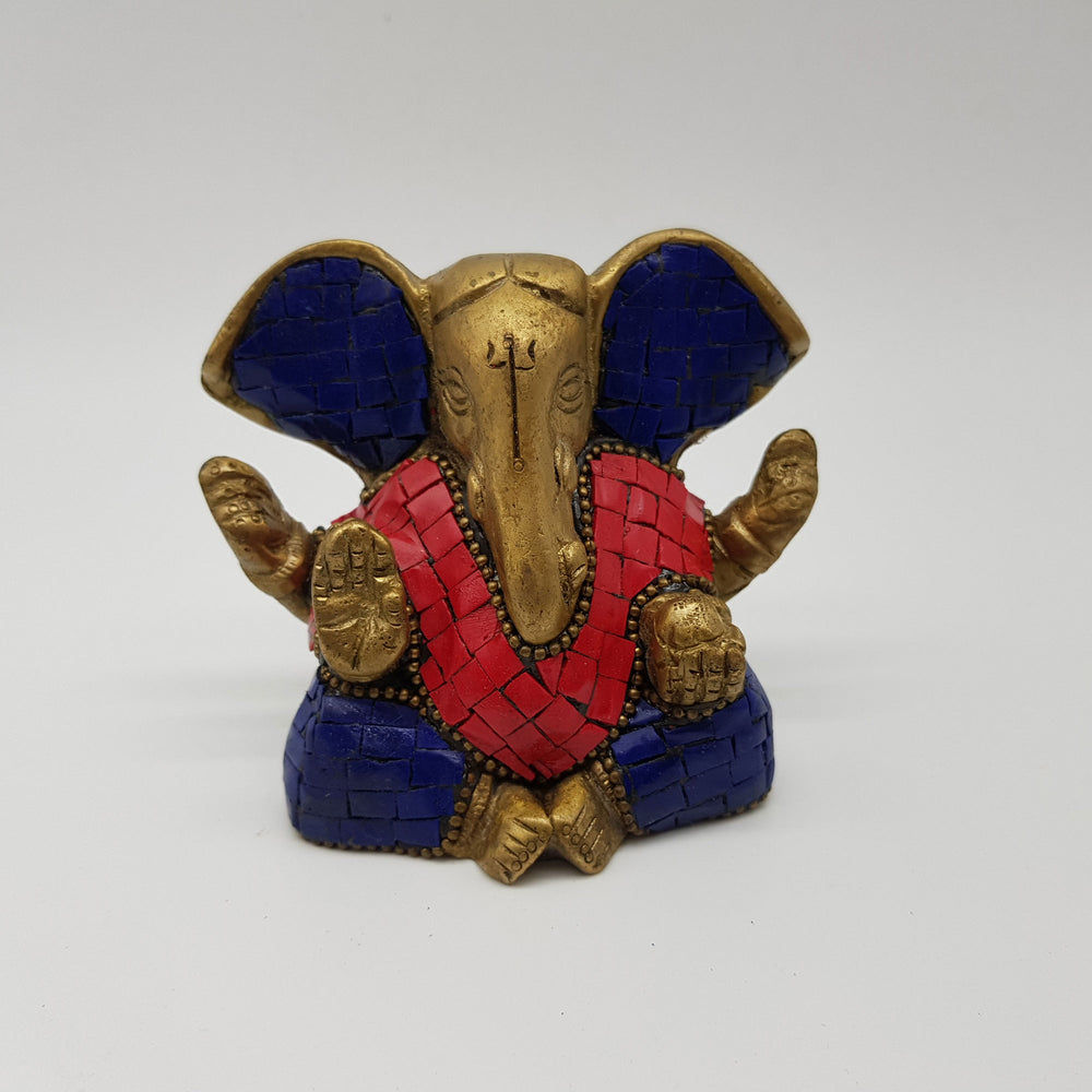 Brass 2.6 Inch Ganesh 2 Colors