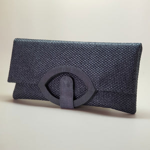 Jute Extendable Clutch Dusty Blue