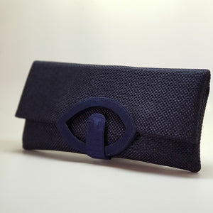 Jute Extendable Clutch Navy
