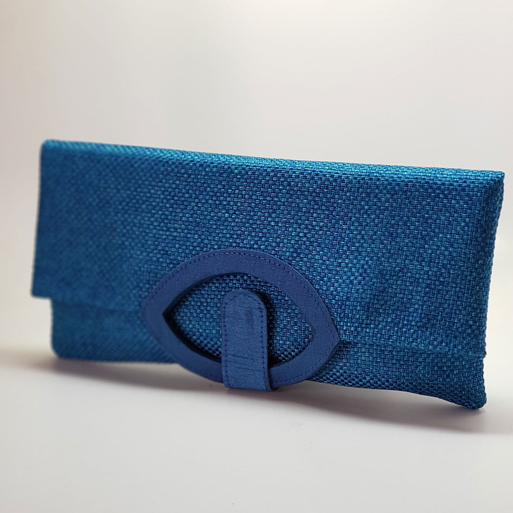 Jute Extendable Clutch Teal