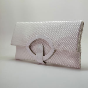 Jute Extendable Clutch White