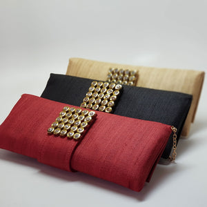 Silk Clutch with Magnetic Clasp