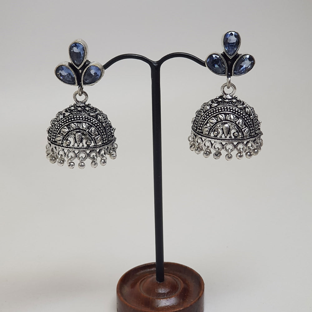 Chandelier Earring with Stone Details