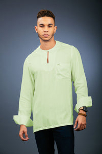 Light Cotton Tunic Light Pistachio