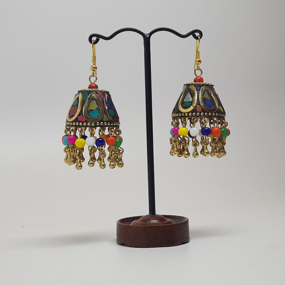 Multi Coloured Chandelier Earring