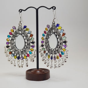 Multi Coloured Hanging Earring