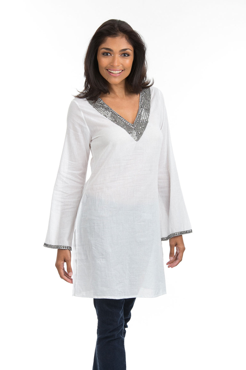 Cotton Inspiration Tunic White with Pants