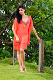 Island Splendour Swimsuit Cover Up coral