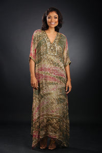 Shades of Olive and Pink - Kaftan
