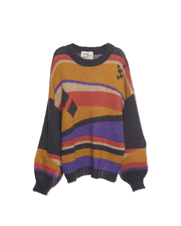Aztec Mohair Pullover