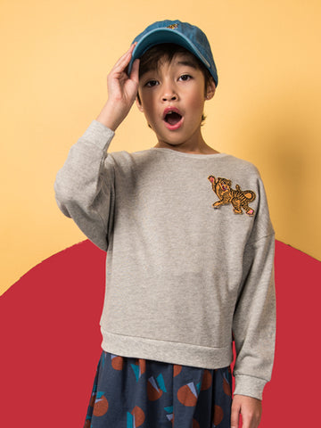 Wonder Sweatshirt - heather grey tiger