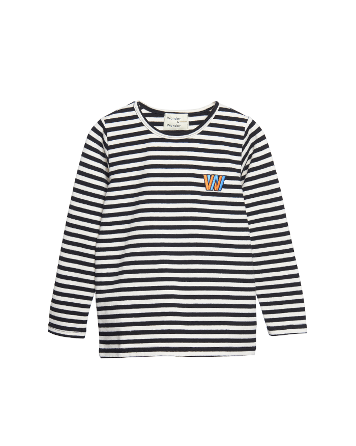 Stripe Tee with Badge