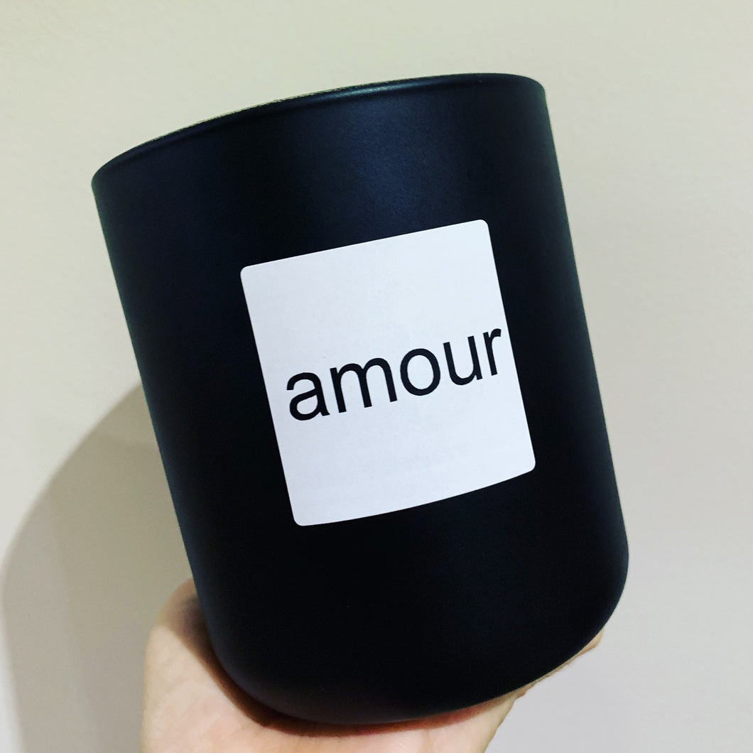 French Amour XL Candle - Matte Black premium jar no lid