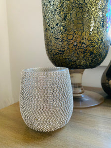 BLING Candle - LGE Diamonte beaded in Gold, Rose Gold & Silver