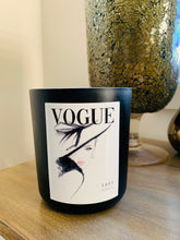 Load image into Gallery viewer, Vogue Fashion 1955 candle - XXL Premium Matte Black Jar with lid
