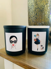 Load image into Gallery viewer, GIRL BOSS Walking the Dog Candle - XL Matte White premium jar with Timber Lid