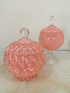 Eva Bubble Candle or Display Jar - Pink