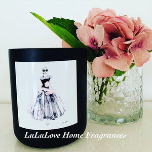 Blush Lady XL Candle - Matte White or Black premium jar with Timber Lid