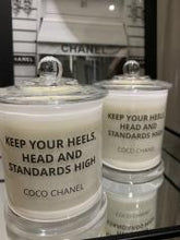 Load image into Gallery viewer, Coco - Quote candle - LGE Clear Jar Knob Lid