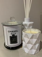 Diamond Diffuser with Diamond and Coco candle gift trio