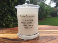 For your Hairdresser Candle