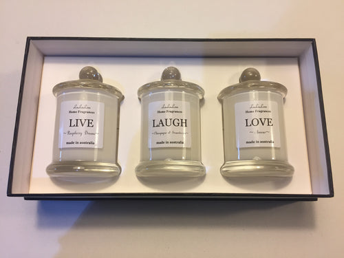 Giftset Trio - LIVE, LOVE, LAUGH