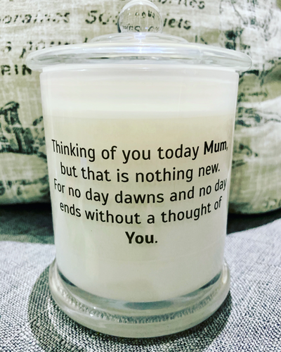 Mothers Day or Anniverary candle for an Angel