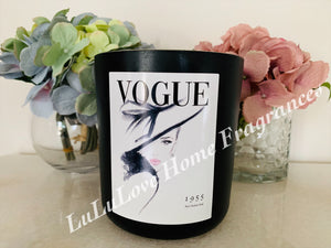 Vogue Fashion 1955 candle - XXL Premium Matte Black Jar with lid