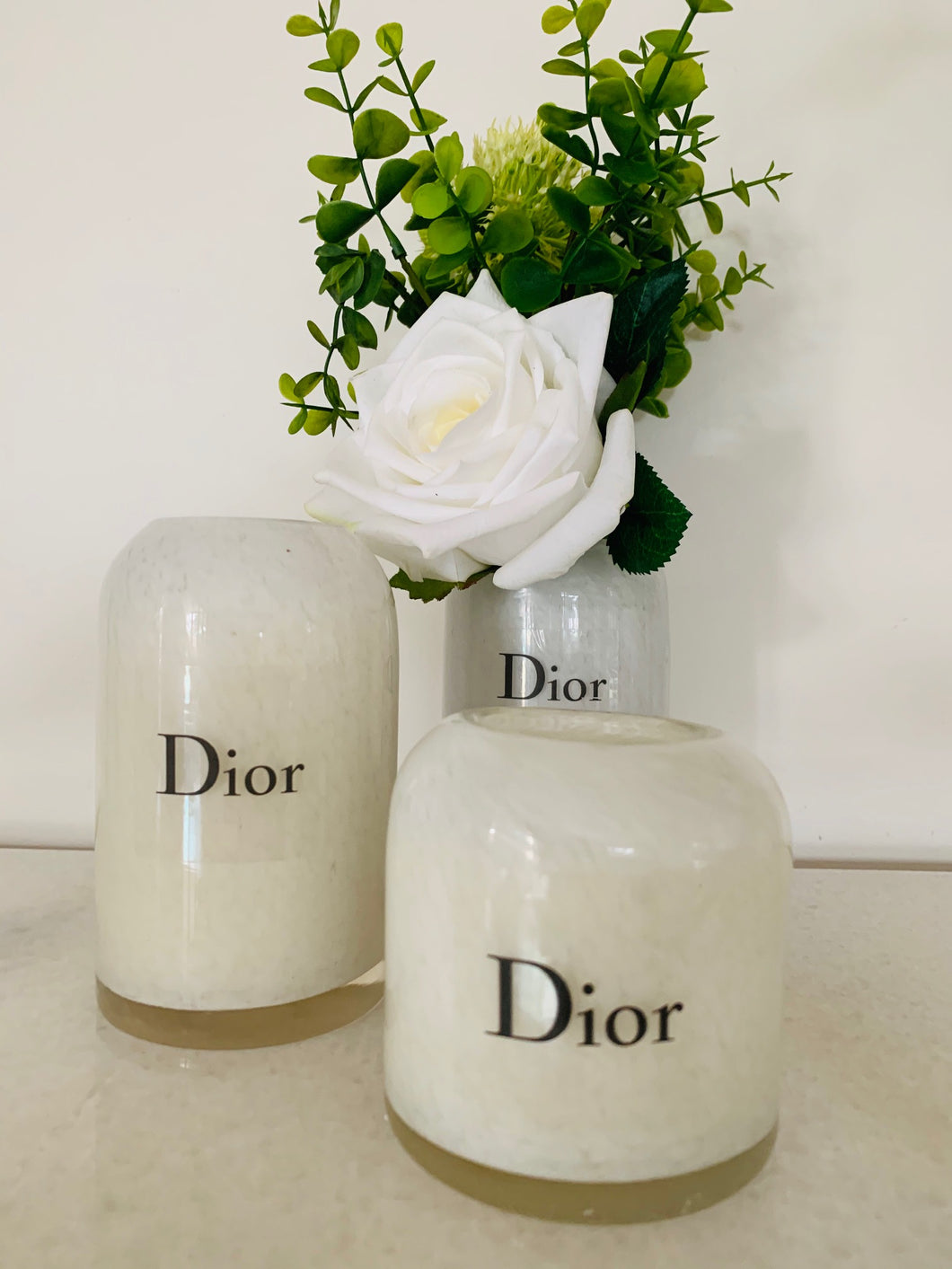 Designer Inspired Pillar look candle - Medium & Large Set